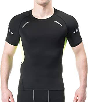 Speverdr Mens Compression Short Sleeve T-Shirts