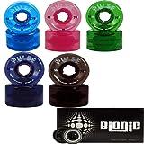 Atom Skates Pulse Outdoor Quad Roller Wheels 78A