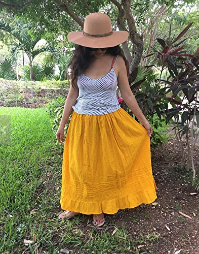 Mexican yellow maxi long skirt by Italivii Shop