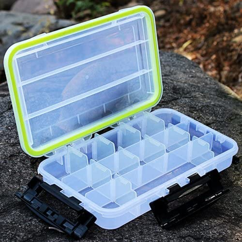 Desconocido Caja de plástico transparente para aparejos de pesca, 13 compartimentos, 28 x 17 x 5 cm, caja multifunción: Amazon.es: Hogar