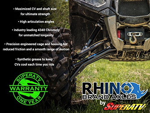 SuperATV Heavy Duty Rhino Brand Axle for Polaris Ranger Full Size XP 900 -  Stock Length FRONT - Upgrade From Your OEM Axle!