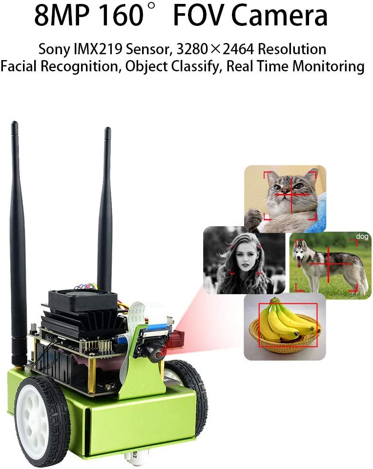 Waveshare JetRacer AI Racing Robot Accessory Powered by NVIDIA Jetson Nano DonKeyCar with Deep Learning Slef Driving and Vision Line Following