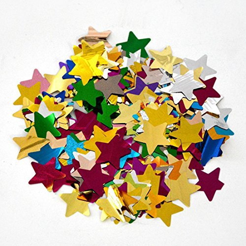MOKA SFX 10kg Mix Color Confetti Paper Star Shape for Stage Effect Confetti Machine Accessories for Wedding Birthday Party Celebration by MOKA SFX