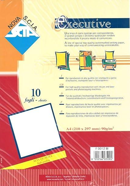 Papel Executive de alta calidad, A4, 90 g, 10 hojas, color blanco ...