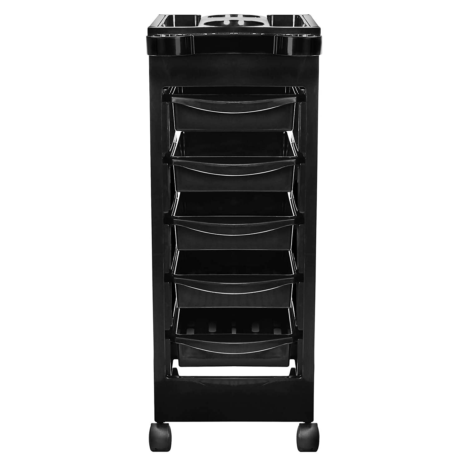 Amazon.com : Saloniture Beauty Salon Rolling Trolley Cart With 5 Drawers  For Tool Storage : Beauty