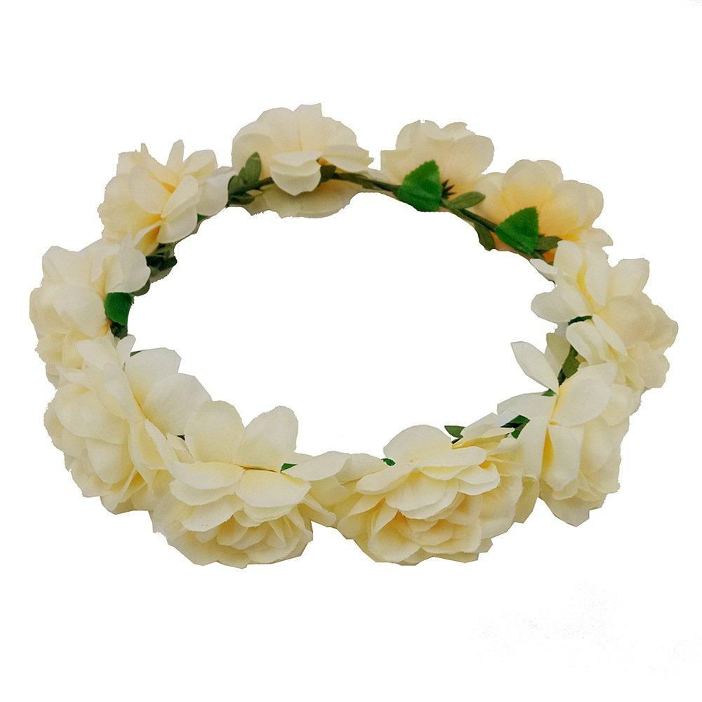 Fascia floreale, ghirlanda di fiori fatti a mano, accessori per capelli da sposa OMIGAI