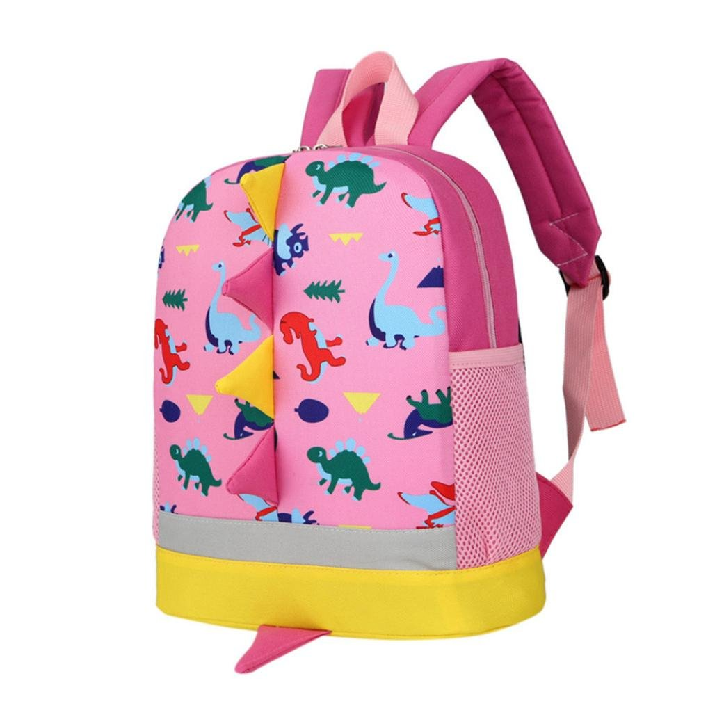 School Bags, SHOBDW Toddler Baby Boys Girls Kids Dinosaur Cute Pattern Animals Backpack School Bag (25 x 10 x 30cm, Blue) SHOBDW-100
