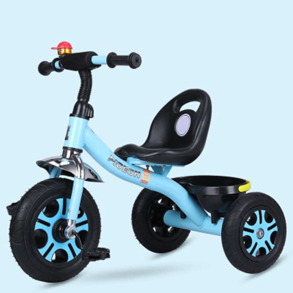 HAIZHEN マウンテンバイク 子供用三輪車1-6歳の軽量自転車非膨張式防爆チタン空車自転車 新生児 B07DKWVQJY 青 青
