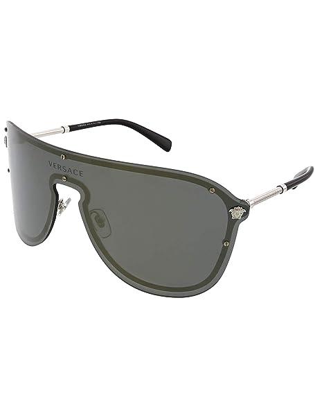 Versace 0VE2180 Gafas de sol, Silver, 45 para Mujer: Amazon ...