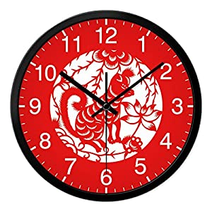 Zhi Wall Clock Silent Non Ticking The Living Room Bedroom Mute Wall Clock Home