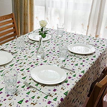 happymxwx Toalla navideña Estampada Lino 140x220 Caja Regalo,Mantel Antimanchas Rectangular Transpirable Moderno Mantel, Cocina, Cafetería, Mantel Decorativo Jardín