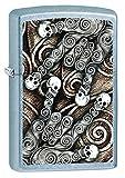 Zippo Pocket Lighter Skull Scroll Hand Street Pocket Lighter, Chrome