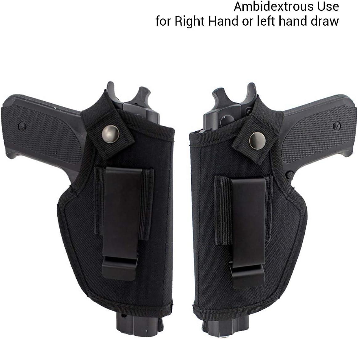 Kawosh Ceinture Holster Pistolet Noir Cach/é Porter Holster Nylon Tactique Molle Pistol Holster Holster Ceinture pour Pistolets Petit /à Grand