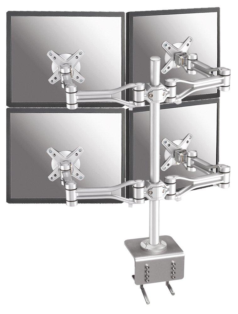 NewStar FPMA-D1030D-4 Flatscreen Desk Mount für 4x LCD/TFT (60 cm (24 Zoll), Belastbarkeit: 10Kg)