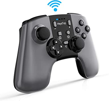 HEYSTOP Mandos para Nintendo Switch, Switch Pro Controller Wireless Controlador Inalámbrico Apoya Vibración, Turbo y Recargable de Batería 600mAh para Nintendo Switch/Nintendo Switch Lite Windows PC: Amazon.es: Electrónica