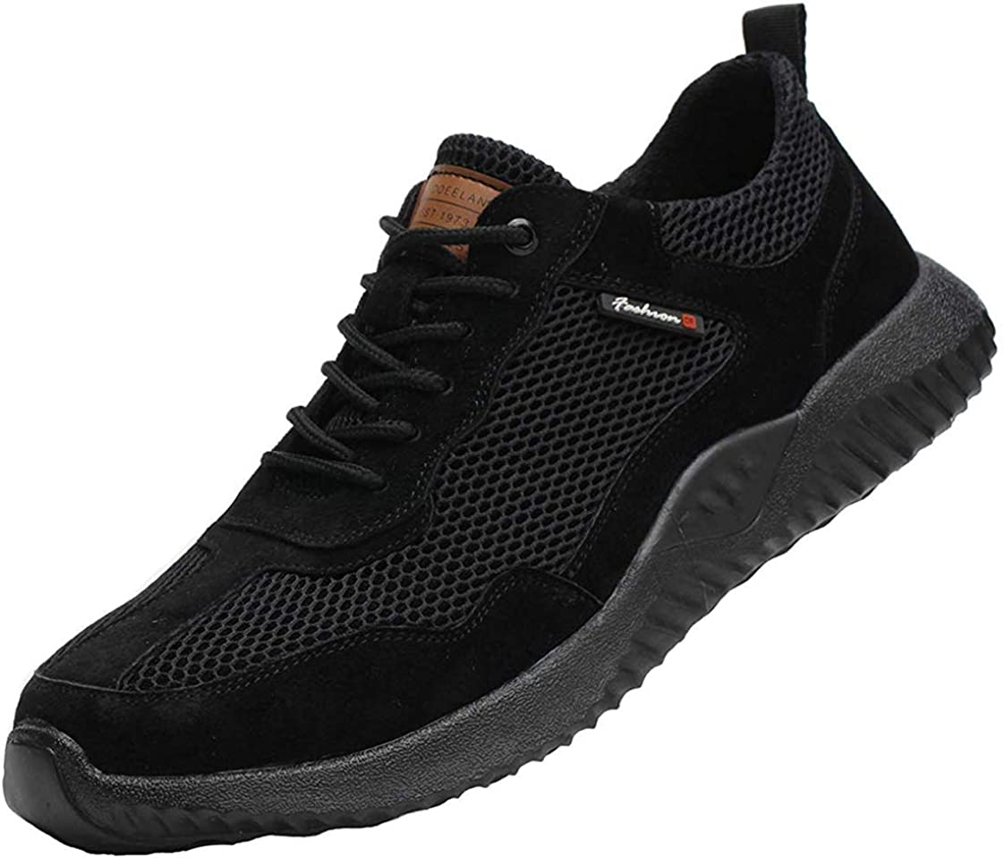 JIEFU Zapatillas de Seguridad para Hombre con Punta de Acero ...