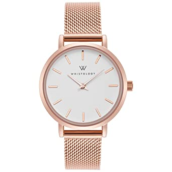cde5b962ba5 Image Unavailable. Image not available for. Color  WRISTOLOGY Charlotte  Womens Watch Rose Gold Metal Mesh Ladies Changeable Strap Band