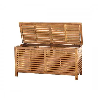 Beliani Coffre en bois - coffre à coussins de jardin - Riviera