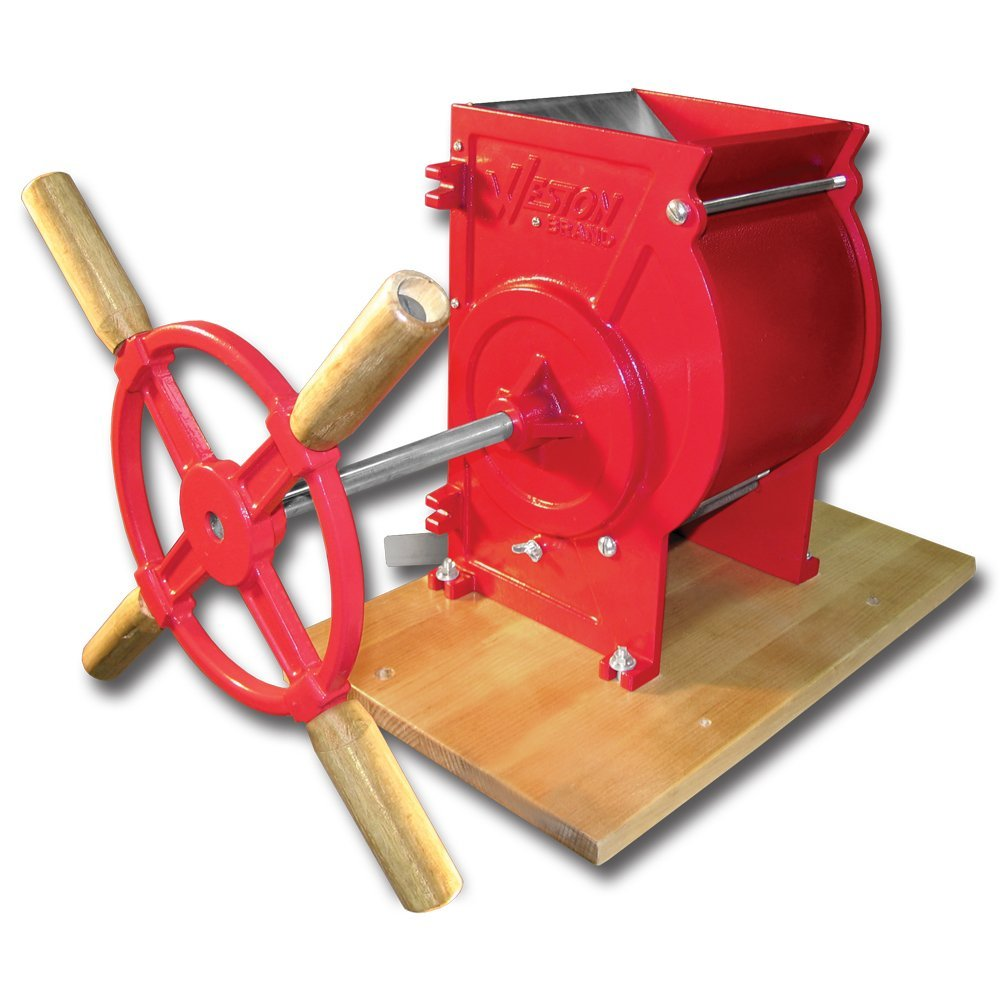 Weston Apple and Fruit Crusher (05-0201), Cast Iron Construction, Stainless Steel Chute & Crushing Blades (Renewed)