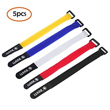 5/Pack Nylon Fahrrad MTB Road Bike Pumpe Gurt Band Wiederverwendbar Mehrzweck-Verstellbare Haken und Loop Kabelbinder Downs Verschluss Sicherung Leegoal Tr/äger 24,9/x 2/cm