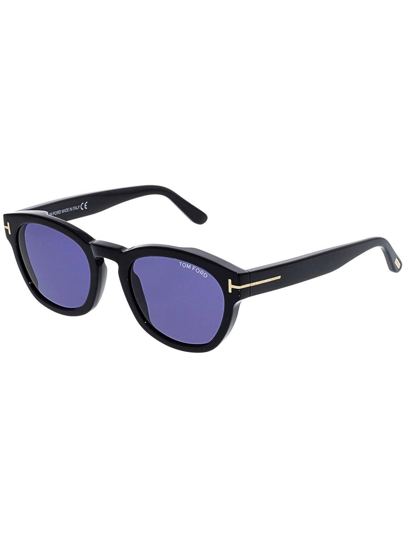 af32569c7c0c3 Sunglasses Tom Ford FT 0590 Bryan- 02 01V shiny black   blue at Amazon  Men s Clothing store