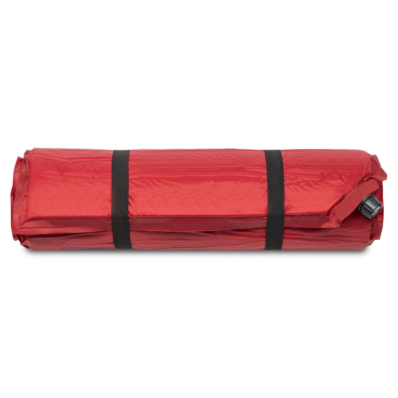 Yukatana Gooddream 5 Colchoneta Aislante autohinchable 5cm de Grosor Rojo (Esterilla Auto Inflable, Espuma de tafetán, extralarga, desplegable, Camping, ...