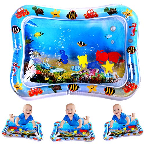 Inflatable Tummy Time Premium Water Mat Infants & Toddlers, The Perfect Fun Time Play Activity Center Your Babys Stimulation Growth ( 26 X20 )