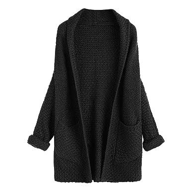 Zaful Women Cardigan Batwing Loose Knitted Draped Open Cardigan