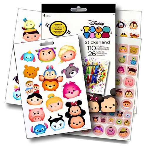 Disney Tsum Tsum Fun Set Tsum Tsum Stickers & Tattoos Bundle