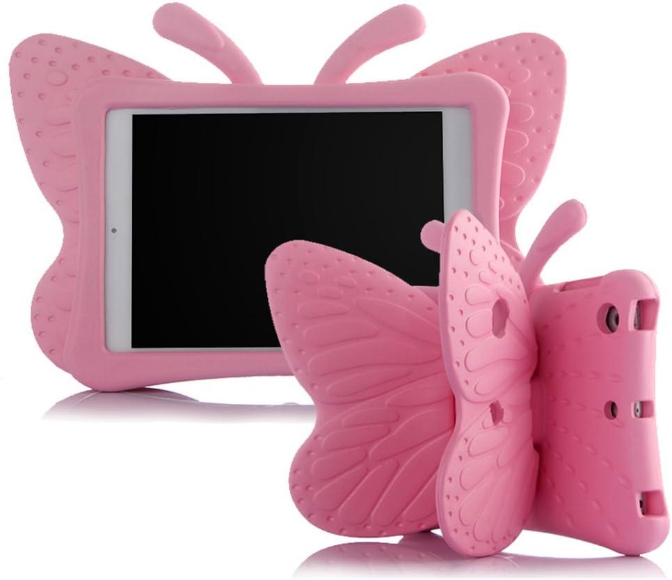 Ipad 5/6/Air/Air 2 Case,ER CHEN Kids Light Weight Cute Butterfly Design Shock Proof EVA Foam Series Case Compatible for Ipad 5/6/Air/Air 2(Pink)