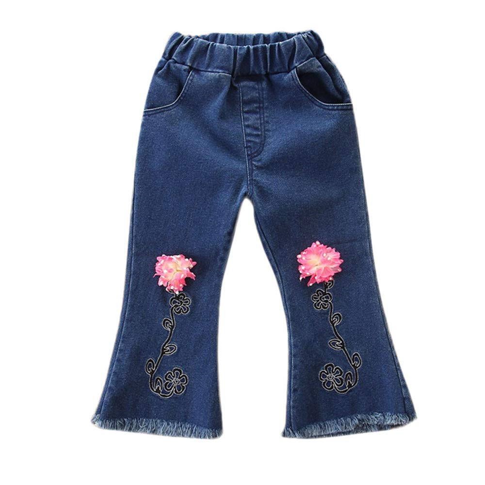 Zerototens Girls Pants,1-5 Years Old Toddler Kids Baby Girls Boys Denim Clothes Dungarees Jumpsuit Jeans Full Length Pants Child Hot Pants Casual Pants