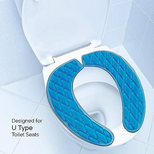 Gel Adhesivo Cojines del Amortiguador Proporcionar un Asiento Acolchado y Acolchado HSDCK Cubierta de Gel de Asiento de Inodoro Lavable para una est/ándar en Forma de U WC