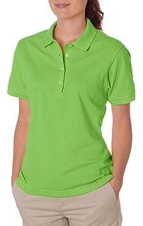 Jerzees Womens Four Button Placket Side Vent Polo Shirt Black X Large