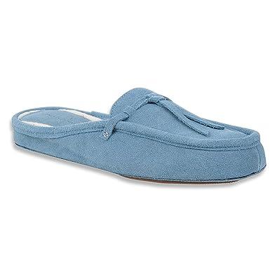 Patricia Green Women's Greenwich Light Blue Suede Slipper 2XL (US Women's  ...
