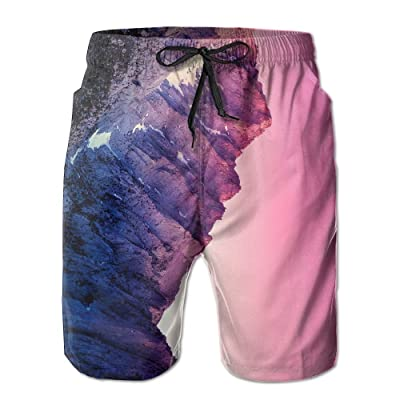 Men's Shorts Swim Beach Trunk Summer Pink Sunset Mountain Peak Athletic Classic Shorts With Pockets