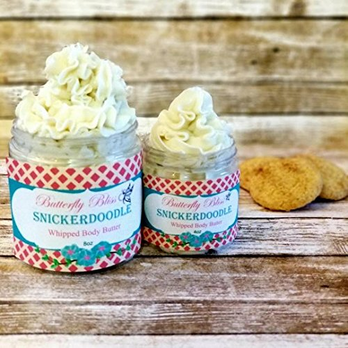 Snickerdoodle Whipped Body Butter, natural lotion, organic, 8oz jar, made with shea butter, mango butter, coconut oil, almond oil