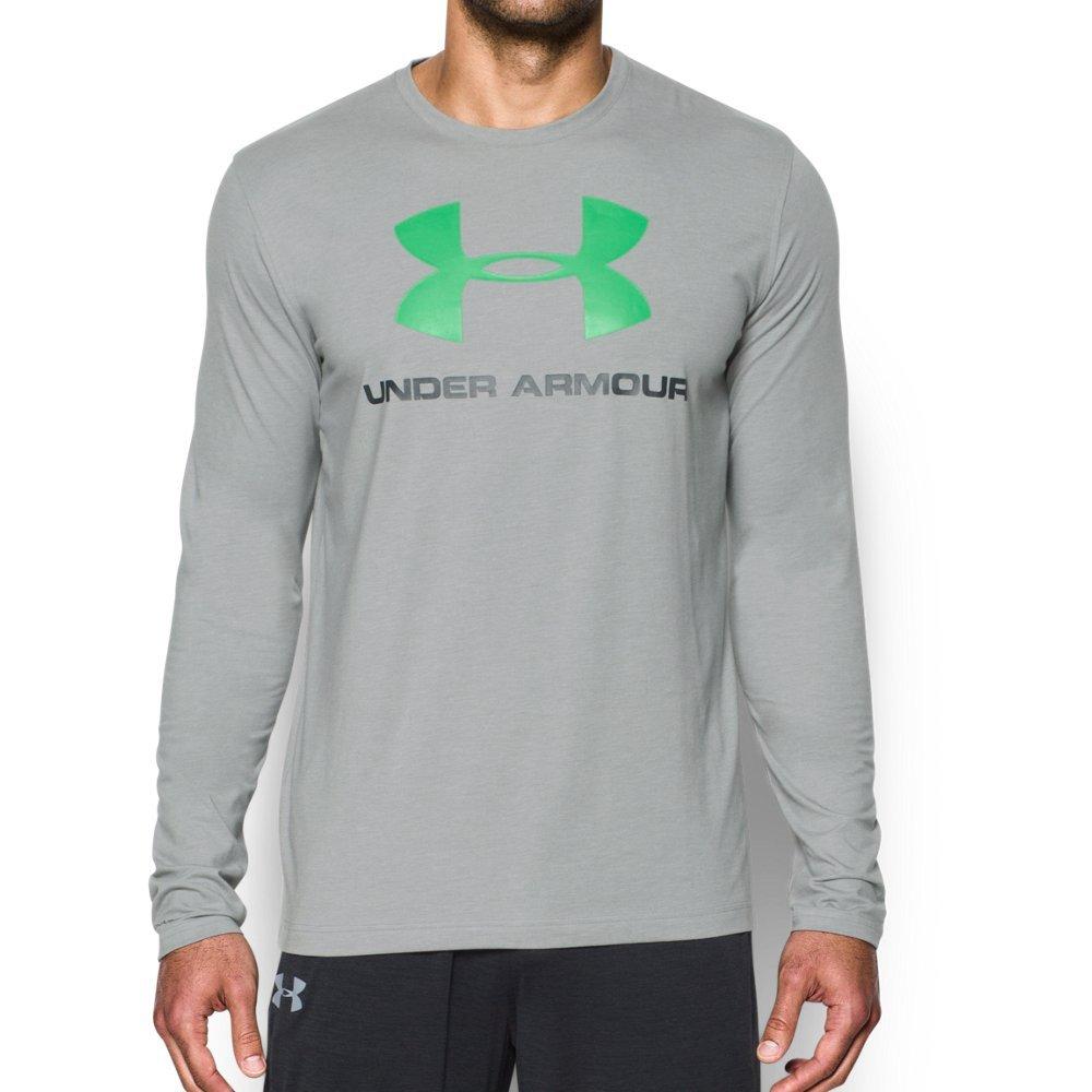 Under Armour Men's Sportstyle Long Sleeve T-Shirt, True Gray Heather/Stealth Gray, Medium