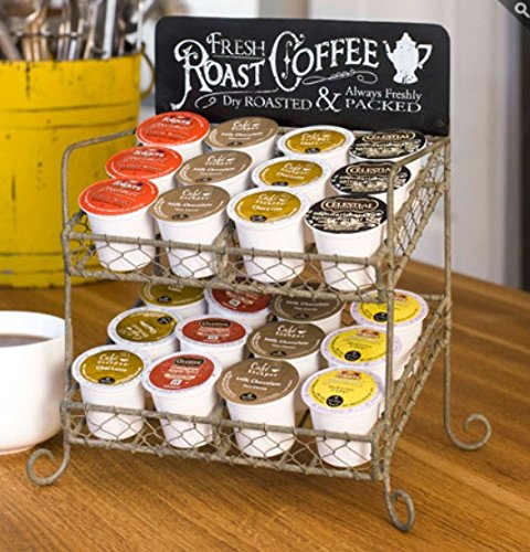 K-cup compatible Vintage Coffee Pod Holder