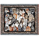 "Pure Country Weavers ""Purrfect Cats Blanket"" Tapestry Throw"
