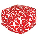 Majestic Home Goods Red Plantation Ottoman, Large