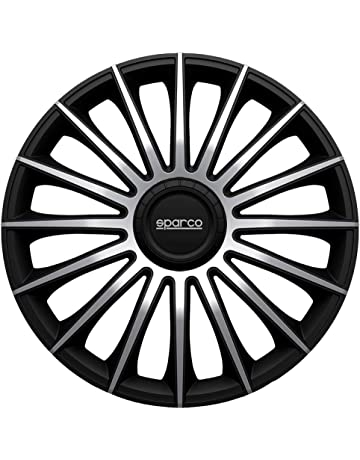 Sparco SPC1593BKSV Tapacubos Torino Negro/Plata 15