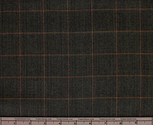 Blair Poly Rayon Plaid Stretch Suiting Fabric, Stretch Suiting Fabric, Suiting ()