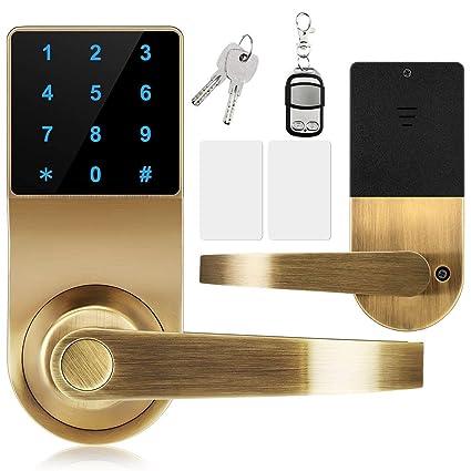 Amazon.com: Candado digital, XINDA Lock con mando a ...