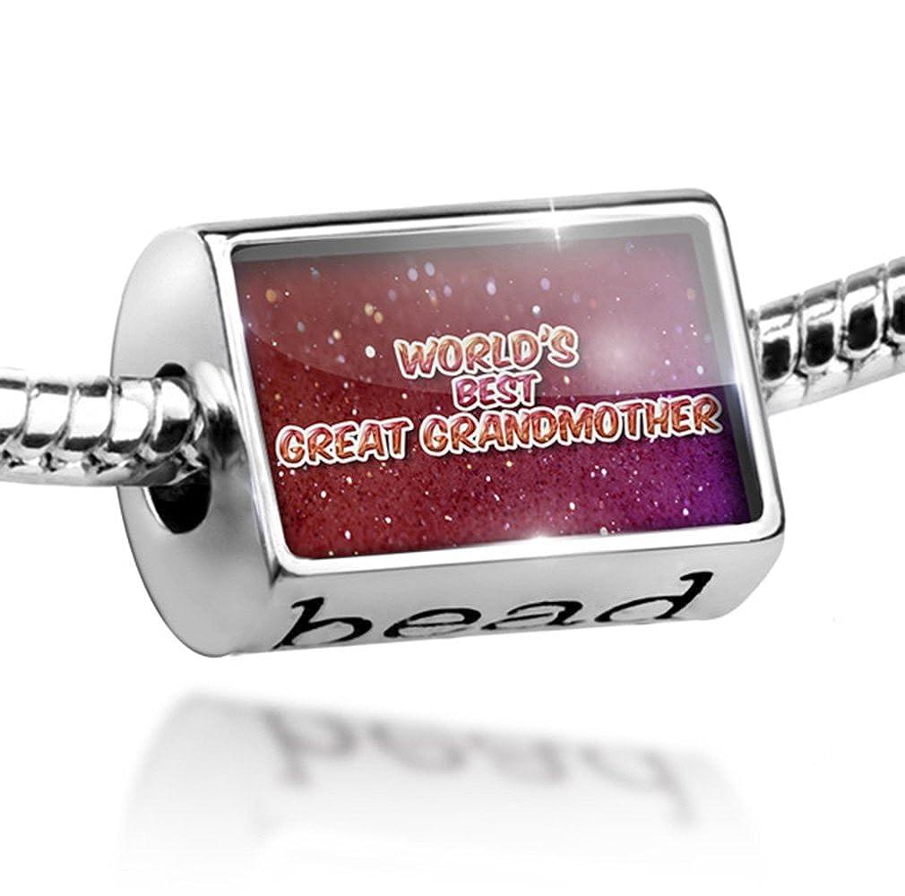 World s Best Gran abuela de perlas, Happy sparkels - Charm Fit todos los Europea sujetador: NEONBLOND: Amazon.es: Joyería