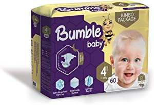 Bumble Baby Diapers Size 4 (7-18 KG) 60 Counts