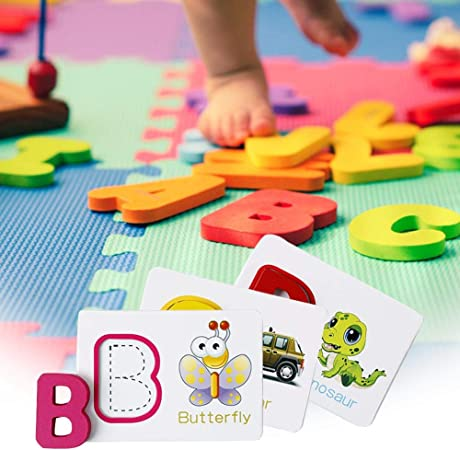 26x English Letter DIY Alphabet Animal Digital Puzzle Kids Baby Educational Toys