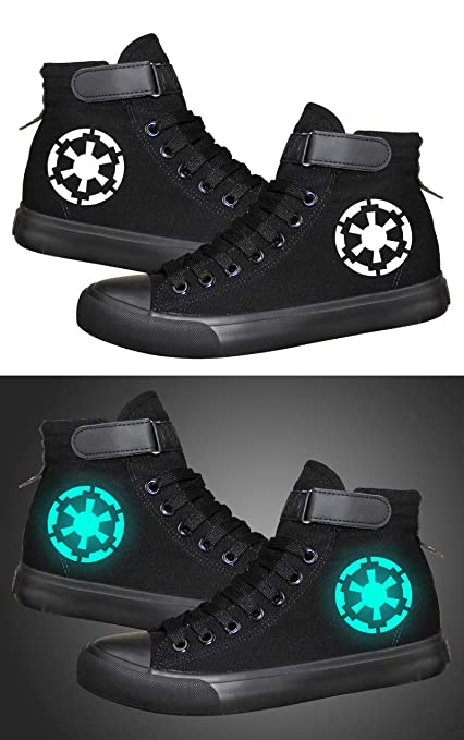 026ac2c609 Star Wars Darth Vader White Soldier Sith Empire Galactic Empire Cosplay  Shoes Canvas Shoes Luminous Sneakers