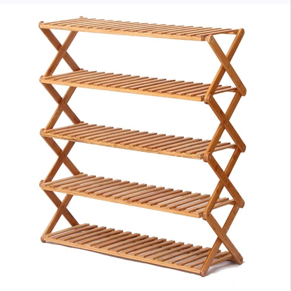 NAN liang 竹家庭折り畳み靴ラック/多層シンプルな靴箱/玄関クリエイティブシューズ収納ラック (色 : D, サイズ さいず : 70CM) B07MKVWGQ7