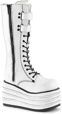 MORI-310 Platform Knee High Boot White