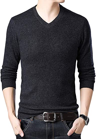 Baijiaye Jersey Hombre Jersey de Pico Hombre Sweaters Tejidos ...